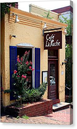 Canvas Print featuring the photograph Cafe Laruche by Adrian LaRoque