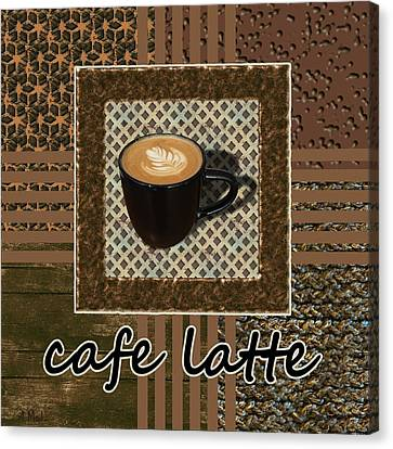 Canvas Print featuring the photograph Cafe Latte - Coffee Art - Caramel by Anastasiya Malakhova
