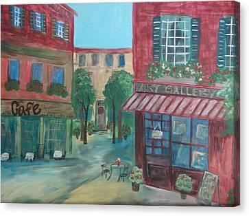 Cafe Life Canvas Print by Shiana Canatella