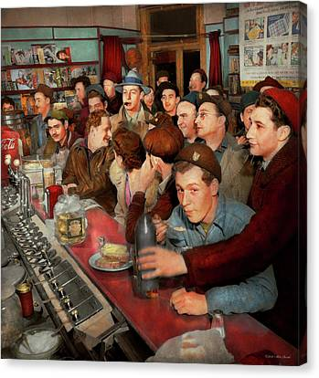 Canvas Print - Cafe - Midnight Munchies 1943 by Mike Savad