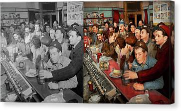 Canvas Print - Cafe - Midnight Munchies 1943 - Side By Side by Mike Savad