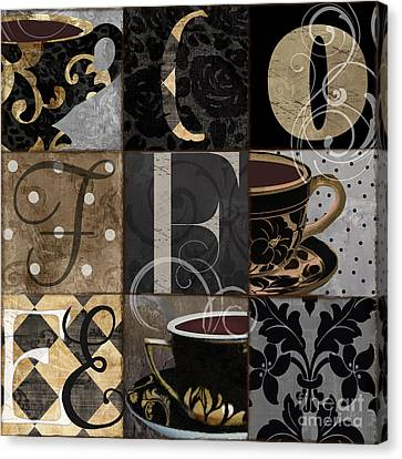 Cafe Noir Patchwork Canvas Print by Mindy Sommers