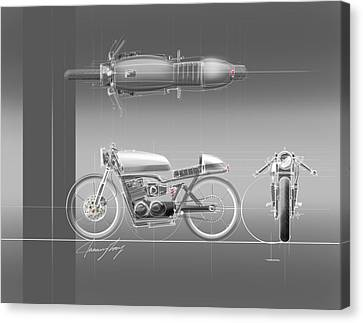 Bolts Canvas Print - Cafe Racer by Jeremy Lacy