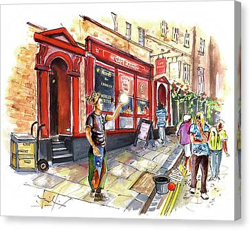 Cafe Rouge In York Canvas Print
