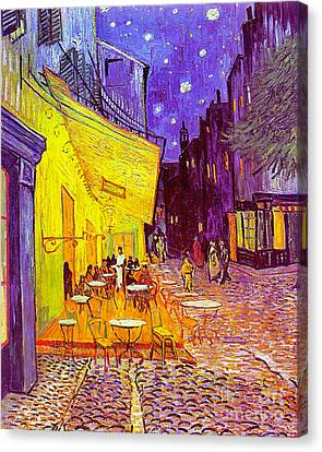 Cafe Terrace 1888 Canvas Print by Padre Art