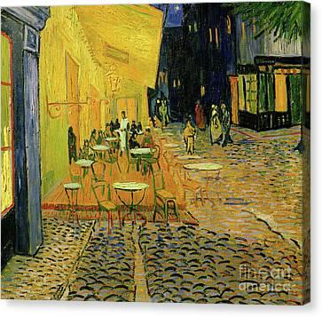 Cafe Terrace, Place Du Forum, Arles, 1888  Detail Canvas Print by Vincent Van Gogh