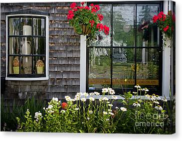 Cafe Windows Canvas Print by Susan Cole Kelly