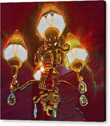 Cafe Chandelier Canvas Print by ARTography by Pamela Smale Williams