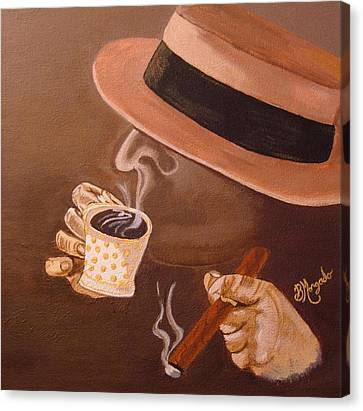 Cafesito Canvas Print by Brenda Morgado