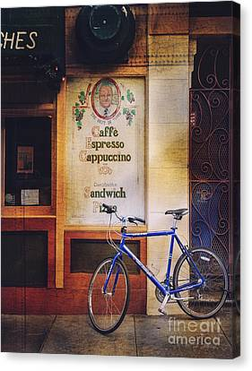 Caffe Expresso Bicycle Canvas Print by Craig J Satterlee