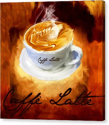 Caffe Latte Canvas Print by Lourry Legarde