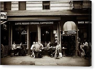 Caffe Reggio Nyc Canvas Print by Jessica Jenney