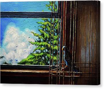 Caged Bird Canvas Print by Chris Bahn