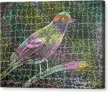 Caged Bird Canvas Print by Marita McVeigh