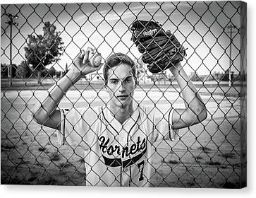 Canvas Print featuring the photograph Caged Competitor by Bill Pevlor
