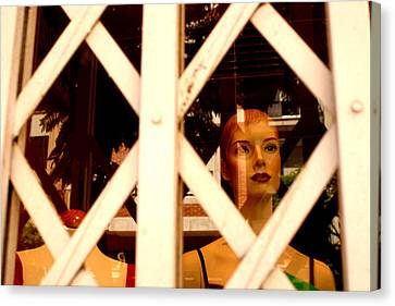 Caged For Lunch Canvas Print by Jez C Self