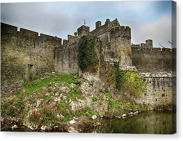 Canvas Print featuring the photograph Cahir Castle by Marie Leslie