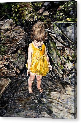 Caice At Otter Creek Canvas Print by Thomas Akers