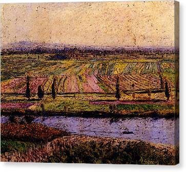 Gennevilliers Canvas Print - Caillebotte Gustave The Gennevilliers Plain Seen From The Slopes Of Argenteuil by Gustave Caillebotte