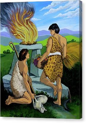 Cain And Abel Canvas Print by Karon Melillo DeVega
