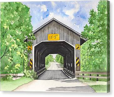 Caine Road Bridge Canvas Print