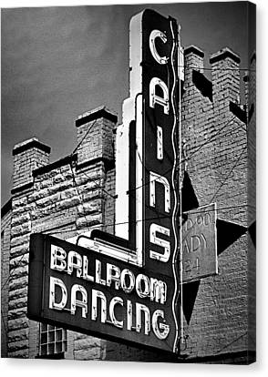 Cains Monochrome Canvas Print by Amber Snead