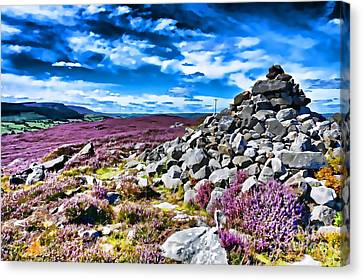 Cairn And Heather Canvas Print
