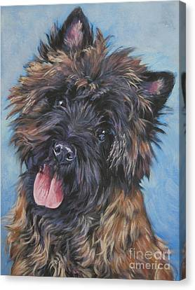 Cairn Terrier Brindle Canvas Print by Lee Ann Shepard