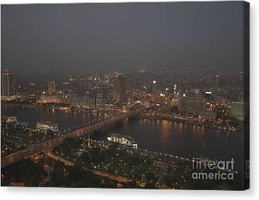 Cairo Smog Canvas Print by Darcy Michaelchuk
