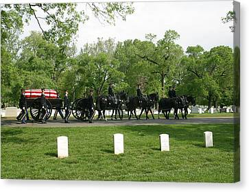 Caisson On The Way To A Burial Site Canvas Print
