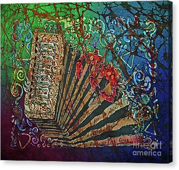 Cajun Accordian Canvas Print by Sue Duda