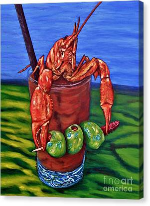 Cajun Cocktail Canvas Print by JoAnn Wheeler