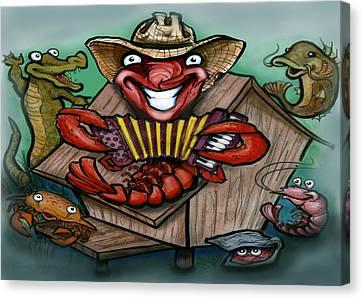Cajun Critters Canvas Print