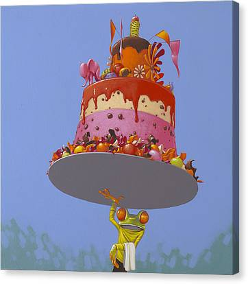 Celebrated Canvas Print - Cake by Jasper Oostland