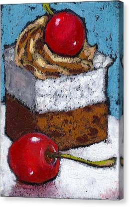 Cake With Cherry On Top Canvas Print by Joyce Geleynse