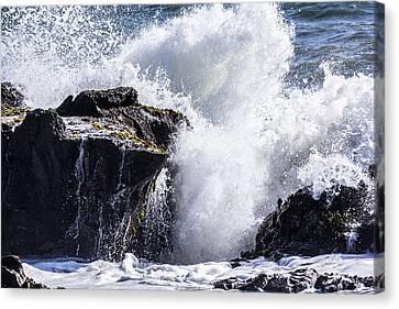 Cal Coast Wave Crash 6 Canvas Print