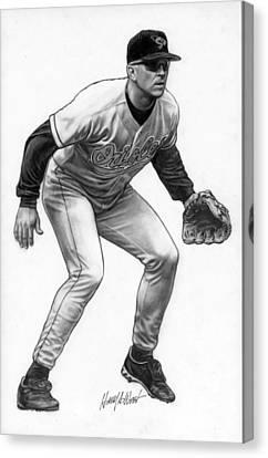 Cal Ripken Canvas Print by Harry West