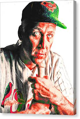 Cal Ripken Jr Digitally Painted 3 Canvas Print by David Haskett