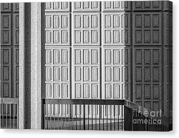 Cal State Northridge Oviatt Library Detail  Canvas Print by University Icons
