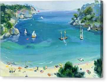 Cala Galdana - Minorca Canvas Print by Anne Durham