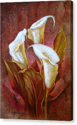 Cala Lillies Bouquet Canvas Print