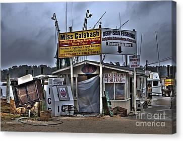 Atlanta Convention Canvas Print - Calabash Bait Shop by Corky Willis Atlanta Photography
