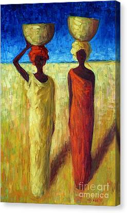 Basket Head Canvas Print - Calabash Cousins by Tilly Willis