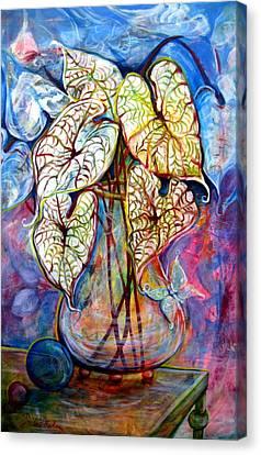 Caladium Glass Creation Canvas Print