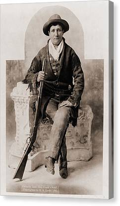 Calamity Jane 1852-1903, Was A Scout Canvas Print by Everett