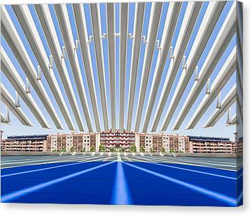 Calatrava Congress Centre / Oviedo Canvas Print by Herbert A. Franke