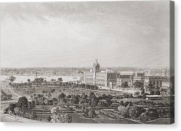 Calcutta, India, From A 19th Century Canvas Print