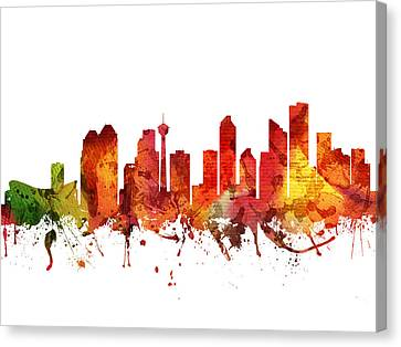 Calgary Cityscape 04 Canvas Print by Aged Pixel