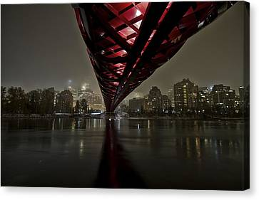 Calgary Peace Bridge Canvas Print