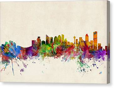 Calgary Skyline Canvas Print by Michael Tompsett